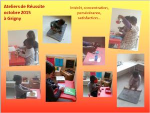 Premier atelier Montessori pour les petits à Grigny !